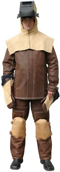 Безопасность, защитный костюм сварщика