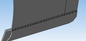 Приварка порога авто точечными соединениями spotArc