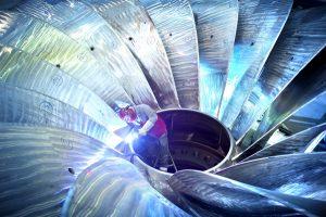 Приварка лопастей колеса турбины